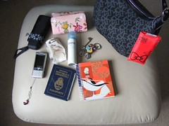 My bag today (Cieguilla) Tags: umbrella bag hellokitty purse passport handbag paraguas cartera pasaporte jordilabanda carpisa sonyericssonk800i