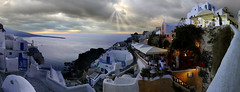 End of the world Santorin Greece (Batistini Gaston) Tags: sunset panoramic santorini greece santorin oia grece batistini vob 10faves flickrphotoaward top20greece