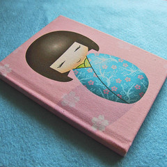 Kokeshi doll notebook (365, Day 3) (Eskimimi) Tags: japan paper notebook japanese doll diary journal etsy kokeshi