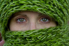 Christina (austinspace) Tags: autumn portrait woman green fall scarf washington eyes explore cheney scarves