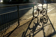 Late Afternoon (Auntie P) Tags: light shadow sun sunlight sunshine bike bicycle metropolis challengeyouwinner msh0709 msh07099 msh1010 auntiepexplored msh101016