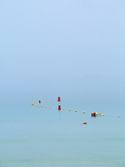 Seascape (sunny-drunk) Tags: seascape water still minimal minimalism mallorca stillness minimalist farting alcudia buoyant 35faves 25faves abigfave aplusphoto flickrjobdiff top20blue agoodblowout