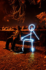 Romance (mikeleary83) Tags: uk light england lightpainting painting bath stickman soe mikeleary thegoldendreams mikeleary83