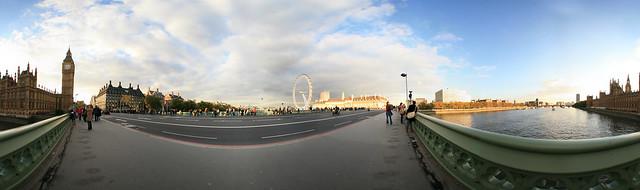 pano London Thames River London Eye Parliament 04 Equirectangular