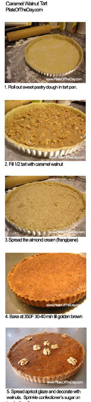 Holiday Caramel Walnut Almond Cream Tart Recipe (Francois Payard)
