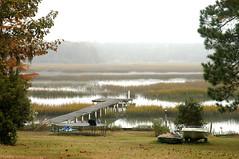 Foggy Morning Marsh (Sco†† C. Hansen (TheHansenGallery.com)) Tags: morning sc fog river scott boat photo dock scenic carolina marsh d100 hansen beaufort lowcountry beaufortcounty scotthansen