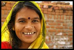 Indian smile (pierreantoinerigout) Tags: portrait woman india smile indian femme sourire voile inde percing indienne