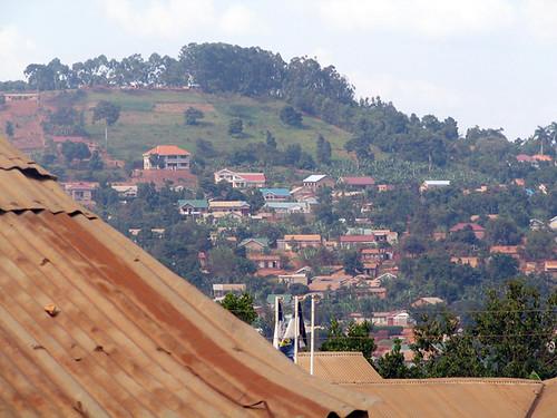 Hills above Kampala suburbs