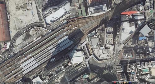 甦った赤い観覧車 Google Earth-new-Umeda-1