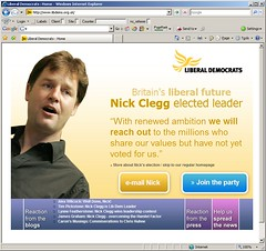 Nick Clegg election homepage for libdems.org.uk