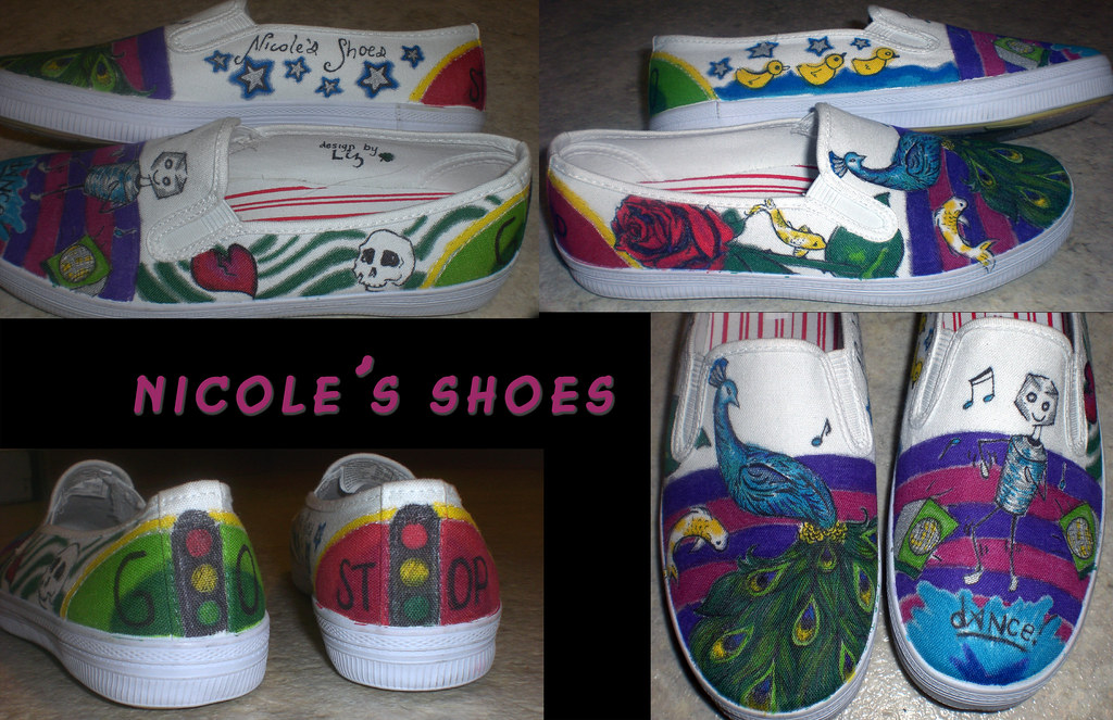 cb78e4559031cd Nicoles shoes (CaffeinatedObsession) Tags  fish trafficlights skull robot  nicole shoes dancing peacock custom