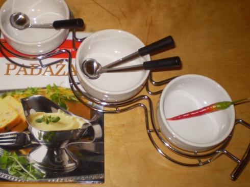Padažinių rinkinys ir padažų receptų knyga