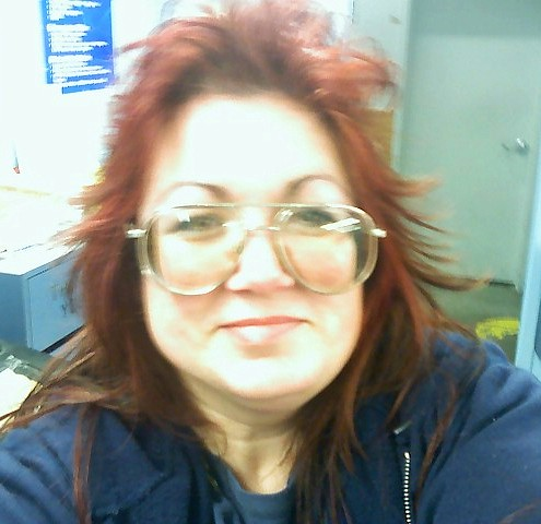 Me in the lunchroom @ work goofing off!
