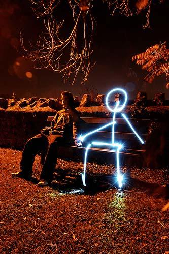 Как сделать фото с рисунком фонариком