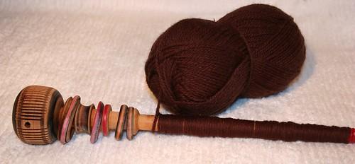 Wool yarn wound for hair