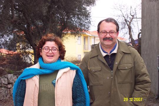 Laila e marido vindos de Setúbal