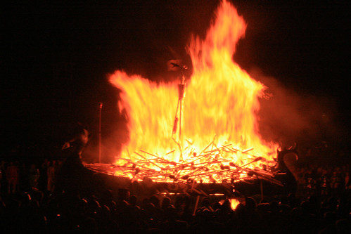 Burning the Viking Longboat