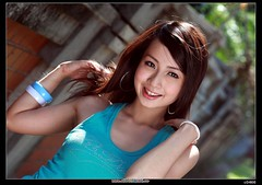 IMG_7956 (c0466art) Tags: trees portrait color green girl smile canon eyes pretty sunday taiwan pure moring