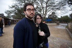 Adam and Briana at the Salt Lick | Driftwood, TX (ldandersen) Tags: texas driftwood saltlick saltlickbbq lonelysandwich brianamowrey