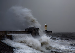 Porthcawl Storm 2 (wentloog) Tags: uk sea lighthouse storm wales canon eos harbor interestingness gallery wind harbour britain wave gale gales explore 5d wfc porthcawl canoneos5d ef24105f4l wentloog welshflickrcymru stevegarrington world100f lighthousetrek