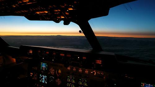 Panorama sunset with no flash