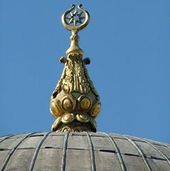 Finial of the Ortaköy Mosque (Alan Cordova) Tags: geotagged star istanbul crescent ottoman kubbe istanbulturkey ortaköy osmanlı alem springbreak2008 ottomanstyle geo:lat=41047269 geo:lon=29026861