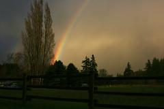 spring storm (jodi_tripp) Tags: trees storm weather vancouver clouds rural fence washington spring rainbow day clarkcounty joditripp yahooweather challengeyouwinner wwwjoditrippcom springo8 photographybyjodtripp
