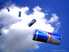 cloud and the redbull fall (marcel patti~) Tags: blue red sky race photoshop advertising flying 3d marcel cool air patti manipulation can bull bulls commercial dimension redbull flyingbulls redbullairrace 3dimension marcelpatti
