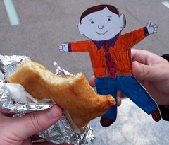 Flat Stanley Tries His First Knish