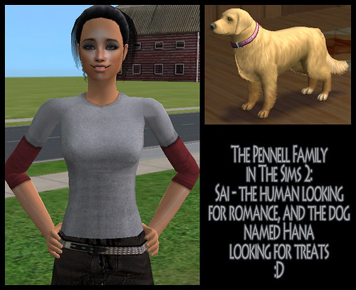 Sai Pennell and Hana in The Sims 2