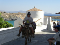 Church of St George Pachymachiotes (Wider World) Tags: sea white church architecture mediterranean donkey greece dome rodos rhodes lindos