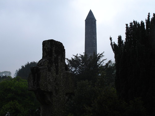 Monastic ruins in Glendalough.