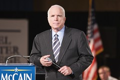 John McCain (StarrGazr) Tags: election published unitedstates senator president newhampshire nh government campaign mccain nashua nhpr townmeeting johnmccain danielwebstercollege nhphototour nhelection08