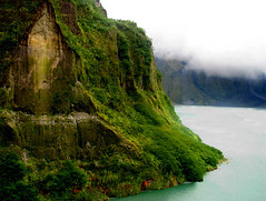 Volcano Wall (Storm Crypt) Tags: lake rock volcano philippines sediment caldera minerals ash craterlake sulfur tan