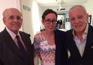 Raul Valdes-Fauli with Lowe Museum director Jill Deupi and Rafael Miyar at the Emilio Sanchez opening at the Lowe museum