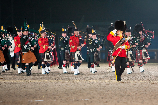 Massed Pipes & Drums - Windsor Castle Royal Tattoo