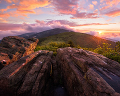 Roan II (Michael Bollino) Tags: sunset sky color nature rock landscape outside tennessee northcarolina ridge appalachian ridgeline roanmountain clikelite