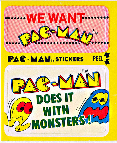 """PAC-MAN"" Sticker NO.50 of 54 'We Want Pac-Man' ((1980))"