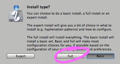 Installer Latex sur Mac 5