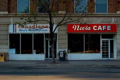 Novia Cafe (doubleaphotoalbum) Tags: coffee restaurant barbershop regina saskatchewan 12thavenue streetscape noviacafe