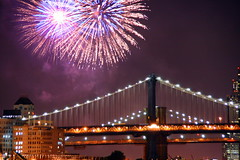 fireworks bridge
