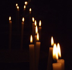 Candles of Santa Maria in Trastevere (chris-dcx) Tags: italy rome church geotagged candles candle rom ih santamariaintrastevere bigmomma challengeyouwinner photofaceoffwinner thechallengegame pfogold friendlychallenges