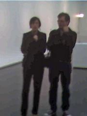 Madeleine Grynsztejn with Richard Tuttle