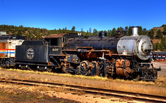 Historic Locomotive, Williams, Arizona (Thad Roan - Bridgepix) Tags: old railroad arizona train vintage rust williams grandcanyon engine rusty rail railway historic rusted locomotive railfan railfanning mywinners 200711