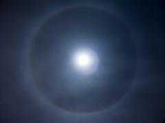 Moon Ring (Kelvinist) Tags: sky moon night clouds stars atmosphere ring refraction icecrystals fortwayne dscf828