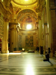 rome. inside san andrea della valle 3 (kexi) Tags: november light italy rome church yellow gold nikon interior coolpix nikoncoolpix instantfave sanandreadellavalle