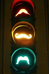 even the stoplight is getting in on the mustachio action
