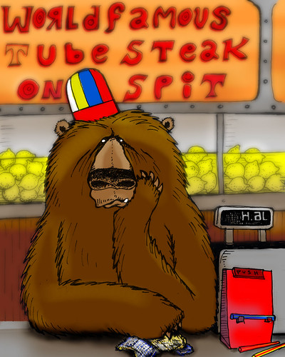 Mr. Bear at Orange Julius