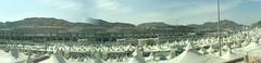 Mina Tent City (Arabian Eagle) Tags: city mobile islam eid tent mina saudiarabia adha hajj