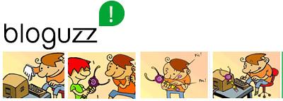 gráfica y logo de bloguzz